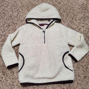 Cream white teddy hoodie